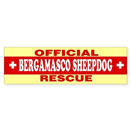 BERGAMASCO SHEEPDOG Bumper Sticker