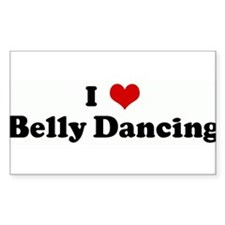 I Love Belly Dancing Rectangle Decal