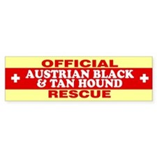 AUSTRIAN BLACK AND TAN HOUND Bumper Bumper Sticker