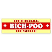 BICH-POO Bumper Bumper Sticker