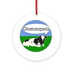 Onomatopoeia Cow Xmas Tree Ornament