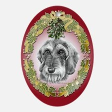 Wire-Haired Dachshund Christmas Oval Ornament