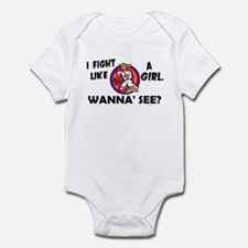 Fight Like A Girl 3 Infant Bodysuit