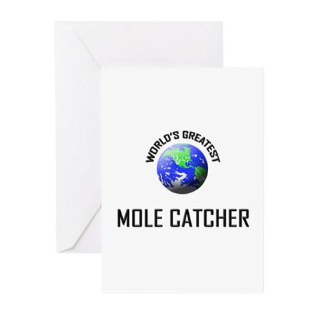 World's Greatest MOLE CATCHER Greeting Cards (Pk o
