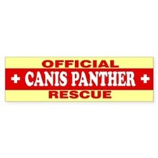 CANIS PANTHER Bumper Bumper Sticker