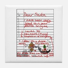 Geek Gamer Santa List Tile Coaster