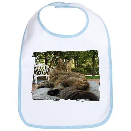 Maine Coon cat bushy tail Bib
