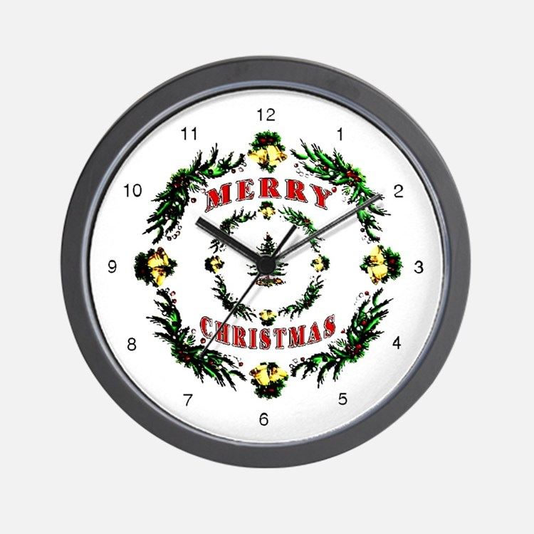 Christmas pattern clocks wall