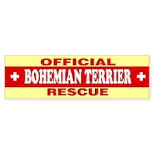 BOHEMIAN TERRIER Bumper Bumper Sticker