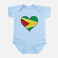 Guyanese Flag Heart Body Suit