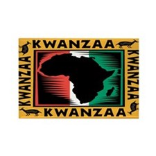 Kwanzaa Rectangle Magnet (10 pack)