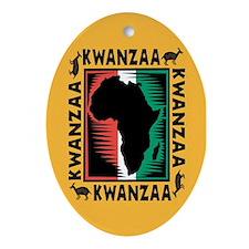 Kwanzaa Oval Ornament