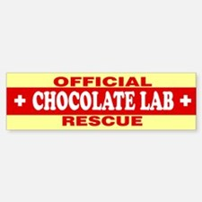 CHOCOLATE LAB Bumper Bumper Bumper Sticker