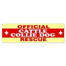 CATTLE COLLIE DOG Bumper Bumper Sticker