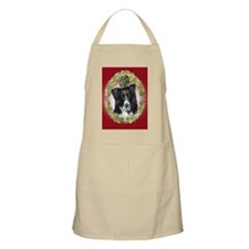 Border Collie Christmas BBQ Apron
