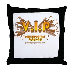 VIP Orange Throw Pillow