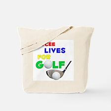 Jaycee Lives for Golf - Tote Bag
