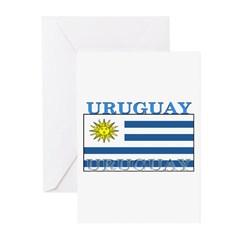Uruguay Uruguayan Flag Greeting Cards (Pk of 10)
