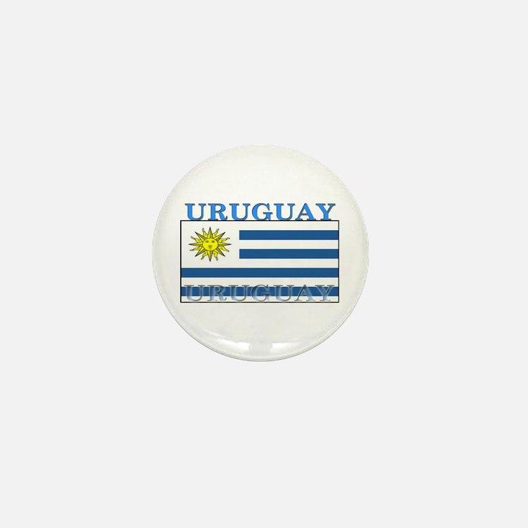 Uruguay Uruguayan Flag Mini Button