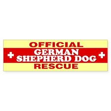 GERMAN SHEPHERD DOG Bumper Car Sticker