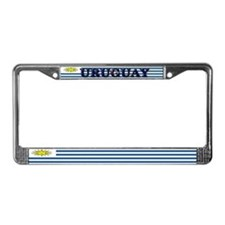 Uruguay Blank Flag License Plate Frame