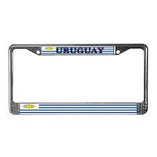 Uruguay Blank Flag License Plate Frame