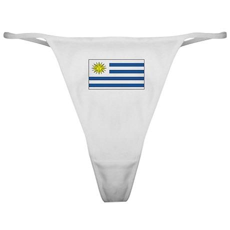 Uruguay Blank Flag Classic Thong