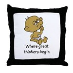 Thinker Baby Throw Pillow