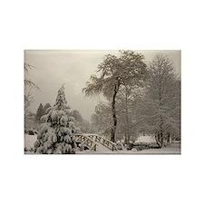 Winter Landscape Photo Rectangle Magnet