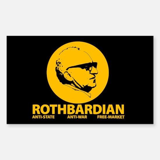 Rothbardian Sticker (Rectangular)
