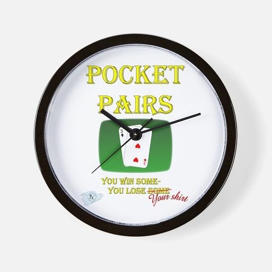 Pocket Pairs Wall Clock