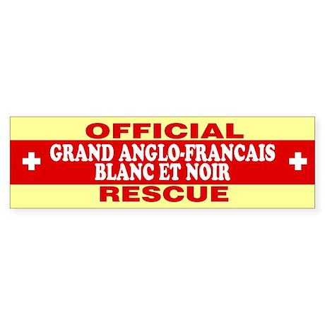GRAND ANGLOFRANCAIS BLANC ET NOIR Bumper Sticker by stickdeez