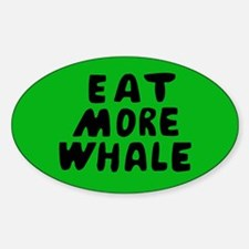 Eat More Whale Oval Decal