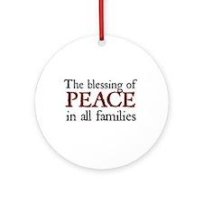 Jane Austen Christmas Peace Ornament (Round)