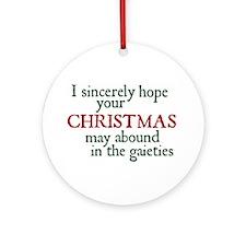 Jane Austen Christmas Gaieties Ornament (Round)