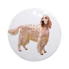 Side Glance English Setter Ornament (Round)