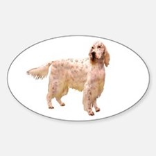Side Glance English Setter Oval Decal