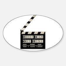 Shoot film, not guns Oval Decal