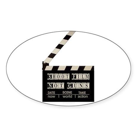 Shoot film, not guns Oval Sticker