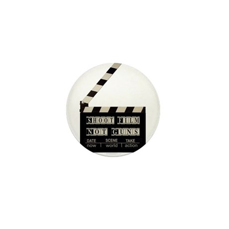 Shoot film, not guns Mini Button (10 pack)