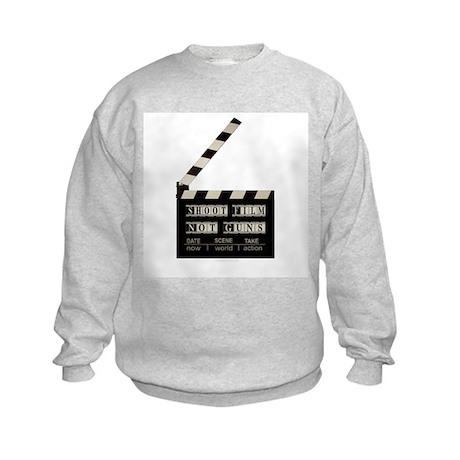 Shoot film, not guns Kids Sweatshirt