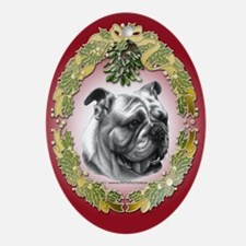 Bulldog Oval Ornament
