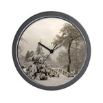 Winter Landscape Photo Wall Clock