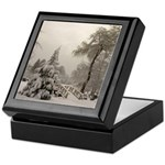 Winter Landscape Photo Keepsake Box
