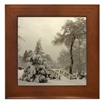 Winter Landscape Photo Framed Tile