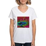 Quadtopia Sunrise Women's V-Neck T-Shirt