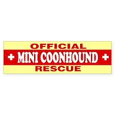 MINI COONHOUND Bumper Bumper Sticker