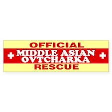 MIDDLE ASIAN OVTCHARKA Bumper Bumper Sticker