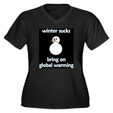 Winter Sucks - bring on globa Women's Plus Size V-