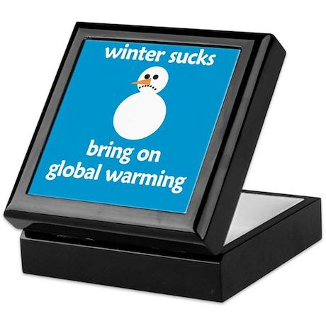 Winter Sucks - bring on globa Keepsake Box